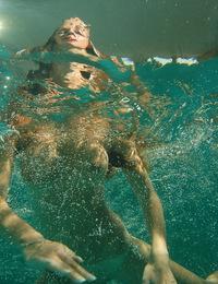 Getting all wet from watching this vixen swim nude, her trimmed bush swishing around. - Radka B - Apnea