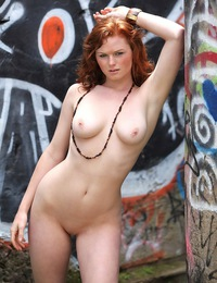 Fair-skinned redhead with voluptuous body, magnificent pinkish breasts, and curvy physique. - Elena Marie - Minervis